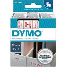 Dymo Red on White 12mmx7m Tape 12mm x 7m - S0720550