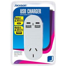 Jackson 1 Way 4 USB Charger  - PT4USB3C