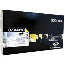 Lexmark C734 Yellow Toner Cartridge 6,000 pages - C734A1YG