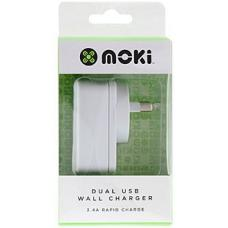 Moki Dual USB Wall Charger Wh  - ACC MUSBWW