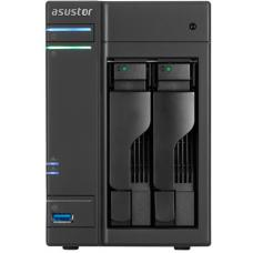 Asustor 2-Bay NAS, HDMI out, Intel Celeron Dual-Core, 2 GB SO-DIMM DDR3L, GbE x 2, USB 3.0 & eSATA, WoL, System Sleep Mode, AES-NI hardware encryption AS6102T
