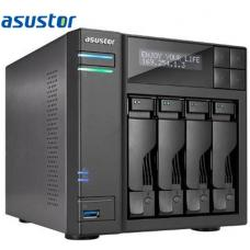 Asustor 4-Bay NAS, Intel Core i3 3.5 GHz Dual-Core, 2GB DDR3, GbE x 2, HDMI, SPDIF, USB 3.0 & SATA, LCD Panel, WoL, System Sleep Mode AS7004T