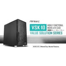 Antec VSK10 mATX Case. 2x USB 3.0 Thermally Advanced Builder's Case. 1x 120mm Fan. Two Years Warranty VSK10 Solid