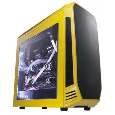 BitFenix Aegis mATX case Black with Yellow. Supports Std PS2/ATX PSU BFC-AEG-300-YKWN1-RP