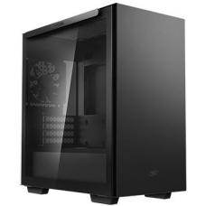 Deepcool MACUBE 110 Black Minimalistic Micro-ATX Case, Magnetic Tempered Glass Panel, Removable Drive Cage, Adjustable GPU Holder, 1xPreinstalled Fan R-MACUBE110-BKNGM1N-G-1