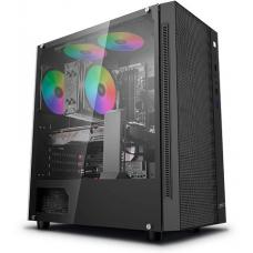 Deepcool MATREXX 55 MESH ATX Minimalist Tempered Glass Case, Supports E-ATX MB DP-ATX-MATREXX55-MESH