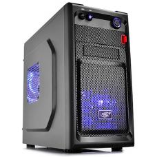 Deepcool Smarter Micro ATX Case with LED Includes 2x Blue 120mm LED Fans DP-MATX-SMTRLED