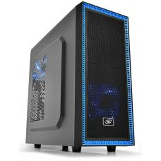 Deepcool Tesseract BF Mid Tower Case, 1 x 120mm Fan, Black, 1 x Pre-Installed DC Rear Fan DP-CCATX-TSRBFBK