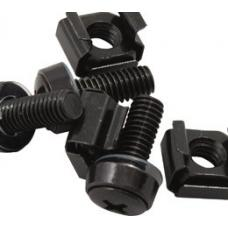 Hypertec M6 Cage Nut Screws Black Pack 40 LS~CAA-M6SCREW~RCLB-PP-NUT CAGENUT-40_
