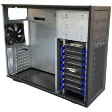 TGC Tower Server Chassis 4U 555mm Depth, 3x Ext 5.25' Bays, 8x Int 3.5' Bays, 8x Full Height PCIE Slots, ATX PSU/MB TGC-T95
