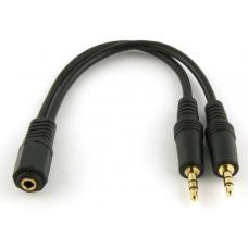 8Ware 3.5mm Stereo Audio Split Cable Female to Male AD Audio P-2R