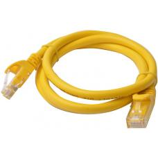 8Ware Cat6a UTP Ethernet Cable 1m Snagless Yellow PL6A-1YEL