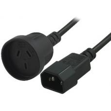 8Ware Power Cable Extension 15cm 3-Pin AU to IEC C14 Female to Male RC-30831