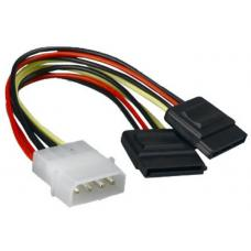 Astrotek Internal Power to SATA Molex Cable - 4 pins to 2x 15 pins 18AWG RoHS AT-MOLEX-TO-SATAX2