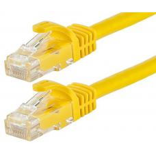 Astrotek CAT6 Cable 1m - Yellow Color Premium RJ45 Ethernet Network LAN UTP Patch Cord 26AWG-CCA PVC Jacket AT-RJ45YELU6-1M
