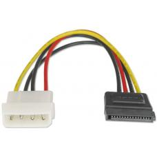 Astrotek SATA Power Cable 15cm 4 pins Male to 15 pins Female 18AWG RoHS AT-SATA-PWR