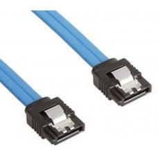 Astrotek SATA 3.0 Data Cable 50cm Male to Male 180 to 180 Degree with Metal Lock 26AWG Blue AT-SATA3-180D