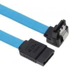 Astrotek SATA 3.0 Data Cable 50cm Male to Male 180 to 90 Degree with Metal Lock 26AWG Blue LS AT-SATA3-90D