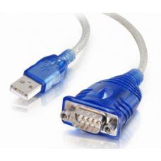 Astrotek USB to Serial RS232 DB9 Com Port Converter Cable 45cm Transparent Colour AT-USB-SERIAL