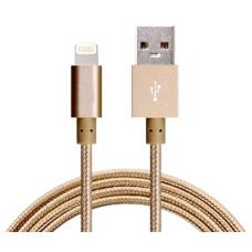 Astrotek 2m USB Lightning Data Sync Charger Gold Color Cable for iPhone 7S 7 Plus 6S 6 Plus 5 5S iPad Air Mini iPod AT-USBLIGHTNINGG-2M