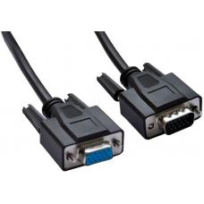 Astrotek VGA Extension Cable 4.5m - 15 pins Male to 15 pins Female for Monitor PC Molded Type Black LS AT-VGAEXT-MF-4.5M