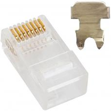 Astrotek CAT5e UTP -RJ45 Connector 8P8C Network Plug 2 Prong Blade 3u' Head 50pcs per bag ATP-8P8C-5E-2
