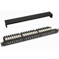 Astrotek 24 Ports UTP Patch Panel CAT5e RJ45 for 19' 1RU Rack Mount Data Network Cabinet Server PCB Type 110/Krone 3U' Black with Metal Dust Cover LS  ATP-PPS5E-24