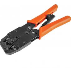 Astrotek 8 pins RJ-45 6 pins RJ-12 4 pins RJ-11 Crimper Cut Strip Crimping Tool Kit with Ratchet Orange Colour Hood RoHS ~CBC-RJ1245 ATP-TOOL-CT-(4/6/8)