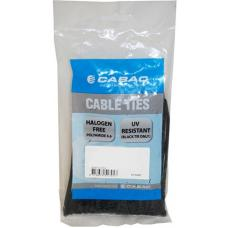 Cabac 200mm 100 Pack, 2.5mm UV Wide Nylon Cable Tie CT196BK-LD