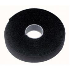 Cabac 10m x 10mm Wide Velcro Cable Tie Hook & Loop Continuous Double Sided Self Adhesive Fastener Sticky Tape Roll Black VT10BK/10M