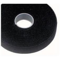 Cabac 25mmx25m Roll Black back to back grip for CAT6 Pro Cable Tie LS VT25BK-25M