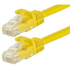 Cabac 0.5m CAT6 RJ45 LAN Ethernet Network Yellow Patch Lead LS HCAT6YL0.5
