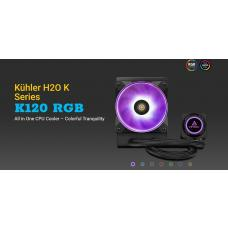 Antec Kuhler K120 RGB All in One CPU Liquid Cooler, LGA 2066, 2011, 115x, AMx, FMx. 3 Yr Warranty K120RGB