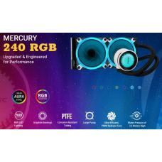 Antec MERCURY 240 RGB Liquid CPU Cooler, Large Pump, Efficient PWM Radiator Fan, Graphite Bearings, LGA 2066, 2011, AM4, FMx, 5 Yrs Warranty MERCURY-240RGB