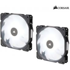 Corsair Air Flow 140mm Fan Low Noise Edition / White LED 3 PIN - Hydraulic Bearing, 1.43mm H2O. Superior cooling performance. TWIN Pack!  CO-9050088-WW