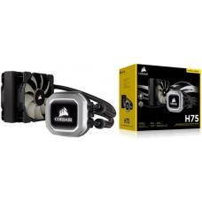 Corsair H75v2 120mm High Performance Liquid CPU Cooler 2x SP PWM 12CM Fan. 5 Years Warranty Intel 1200, 115x, 2011/2066, AMD AM3/AM2, AMD AM4(LS) CW-9060035-WW