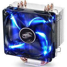 Deepcool Gammaxx 400 CPU Cooler 4 Heatpipes, 120mm PWM LED Fan Intel 130W LGA20XX/1366/115X/1200/775 AMD 125W AM4 AM3+ AM3 AM2+ AM2 FM2+ FM2 FM1 GAMMAXX 400