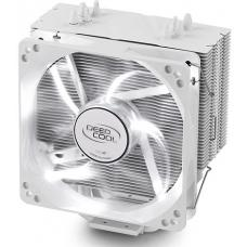 Deepcool Gammaxx 400 White CPU Cooler 4 Heatpipes, 120mm PWM LED Fan Intel LGA20XX/1366/115X/1200/775 AMD AM4 FM2 FM1 AM3+ AM3 AM2+ AM2 K8 GAMMAXX 400 WHITE