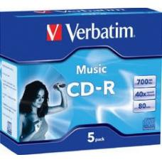 Verbatim CD-R 80Min 5Pk Audio 40x 62620