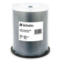 Verbatim CD-R 700MB 100Pk White Wide InkJet 52x 95252