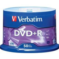 Verbatim DVD+R 4.7GB 50Pk Spindle 16x 95037
