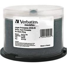 Verbatim DVD-R 4.7GB 50Pk White Wide Inkjet 16x 95079