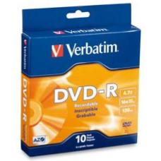 Verbatim DVD-R 4.7GB 10Pk Spindle 16x 95100