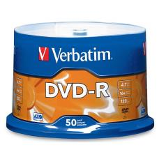 Verbatim DVD-R 4.7GB 50pk Spindle 16x 95101
