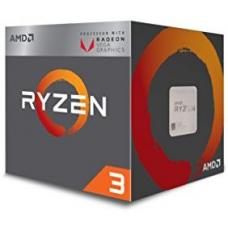 AMD Ryzen 3 2200G, 4 Core AM4 CPU, 3.7GHz 6MB 65W w/Wraith Stealth Cooler Fan RX Vega Graphics Box YD2200C5FBBOX