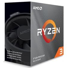 AMD Ryzen 3 3100, 4-Core/8 Threads AM4 CPU, Max Freq 3.9GHz, 18MB Cache 65W, With Wraith Stealth Cooler  100-100000284BOX-P