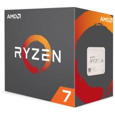 AMD Ryzen 7 2700, 8 Cores AM4 CPU, 4.1GHz 20MB 65W w/Wraith Spire LED Cooler Fan Box YD2700BBAFBOX