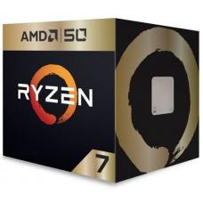 AMD Ryzen 7 2700X, 8 Cores, 16 threads, AM4 CPU, 4.35GHz, 20MB, 105W, Wraith Prism Cooler Fan Box - 50th Anniversary Edition ADVYD270XBGAFA50