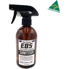 HotTorque E85 Hand & Surface Sanitiser 500ml, 80% Ethanol, 100% Australian Made, WHO & TGA Standard, Natural Ingredients, Tea Tree & Peppermint Oil E85HS-500ML