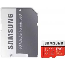 Samsung 512GB EVO PLUS MicroSD 100MB/s, 90M/s, 4-Proof Protection, UHS-I/HS/Grade 3/Class 10 MB-MC512GA/APC
